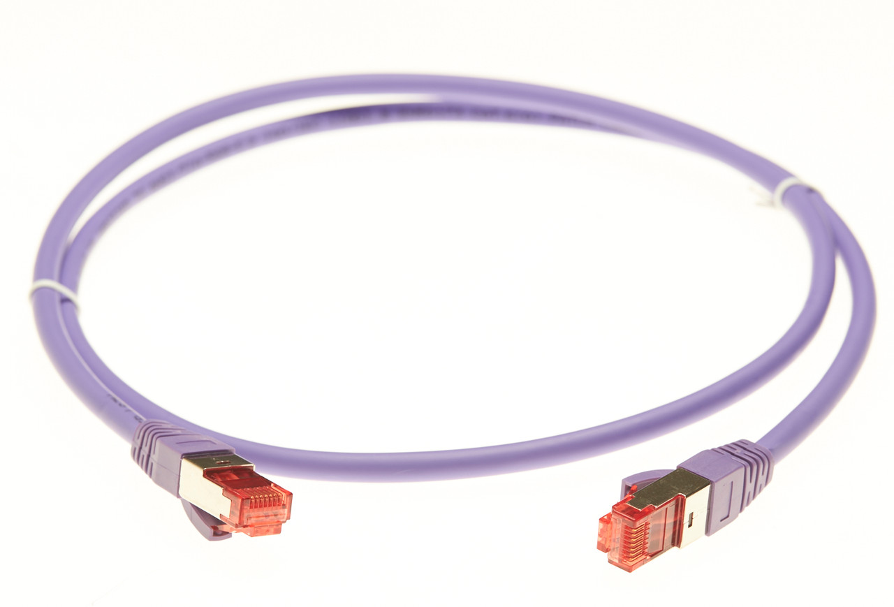 Image for 2m Cat 6A S/FTP LSZH Ethernet Network Cable. Purple CX Computer Superstore