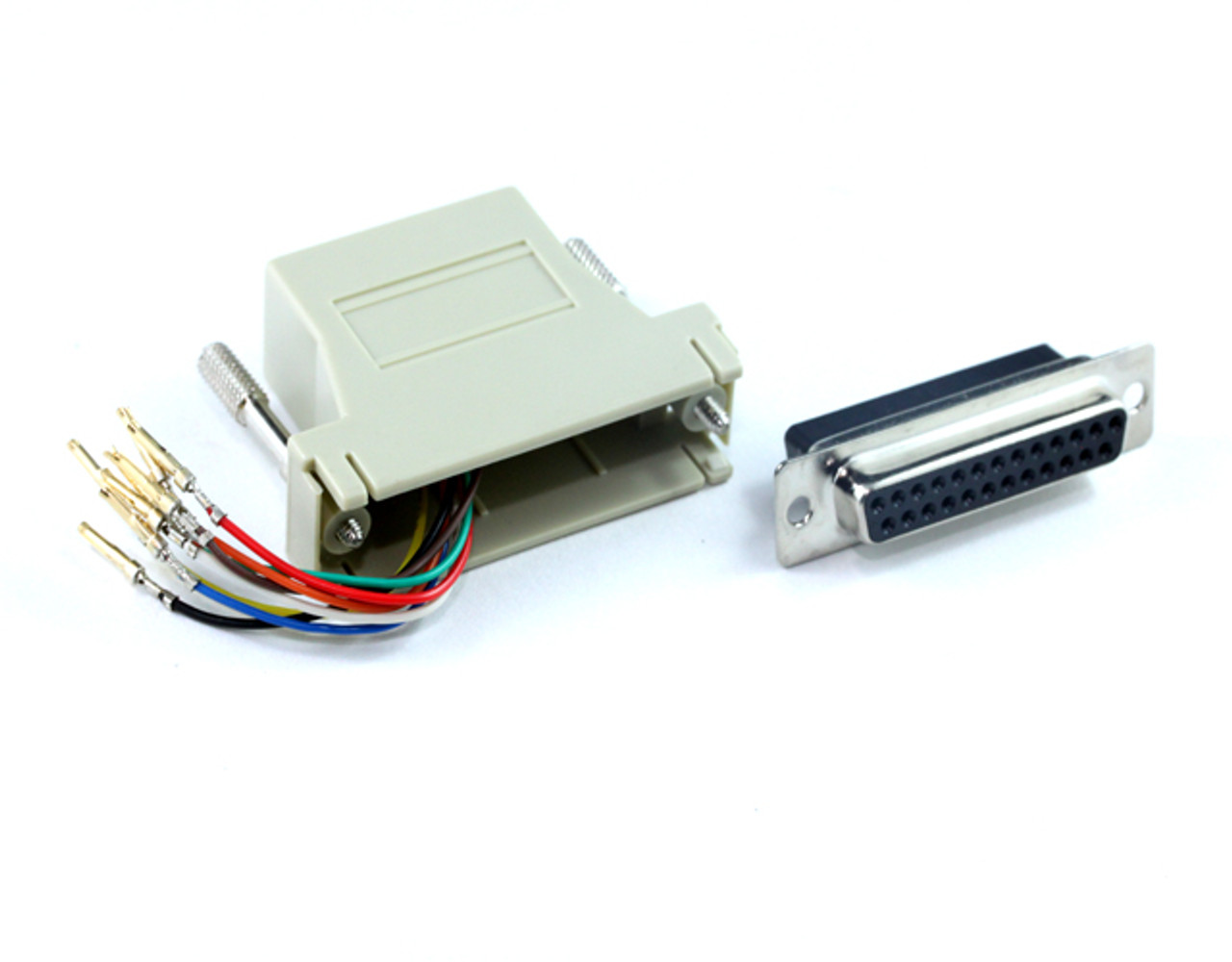 Product image for DB25F To RJ45 F Adaptor   CX Computer Superstore
