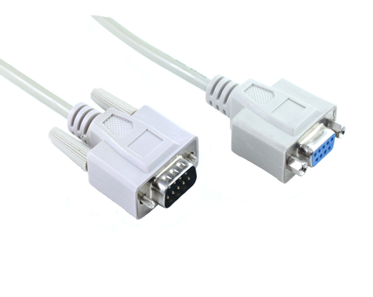 Product image for 2M DB9M-DB9F Serial Extension Cable With Nuts | CX Computer Superstore