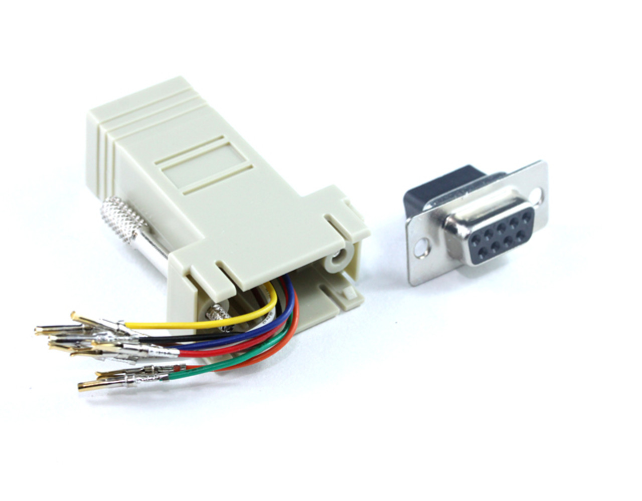Product image for DB9F To RJ45 F Adaptor   CX Computer Superstore