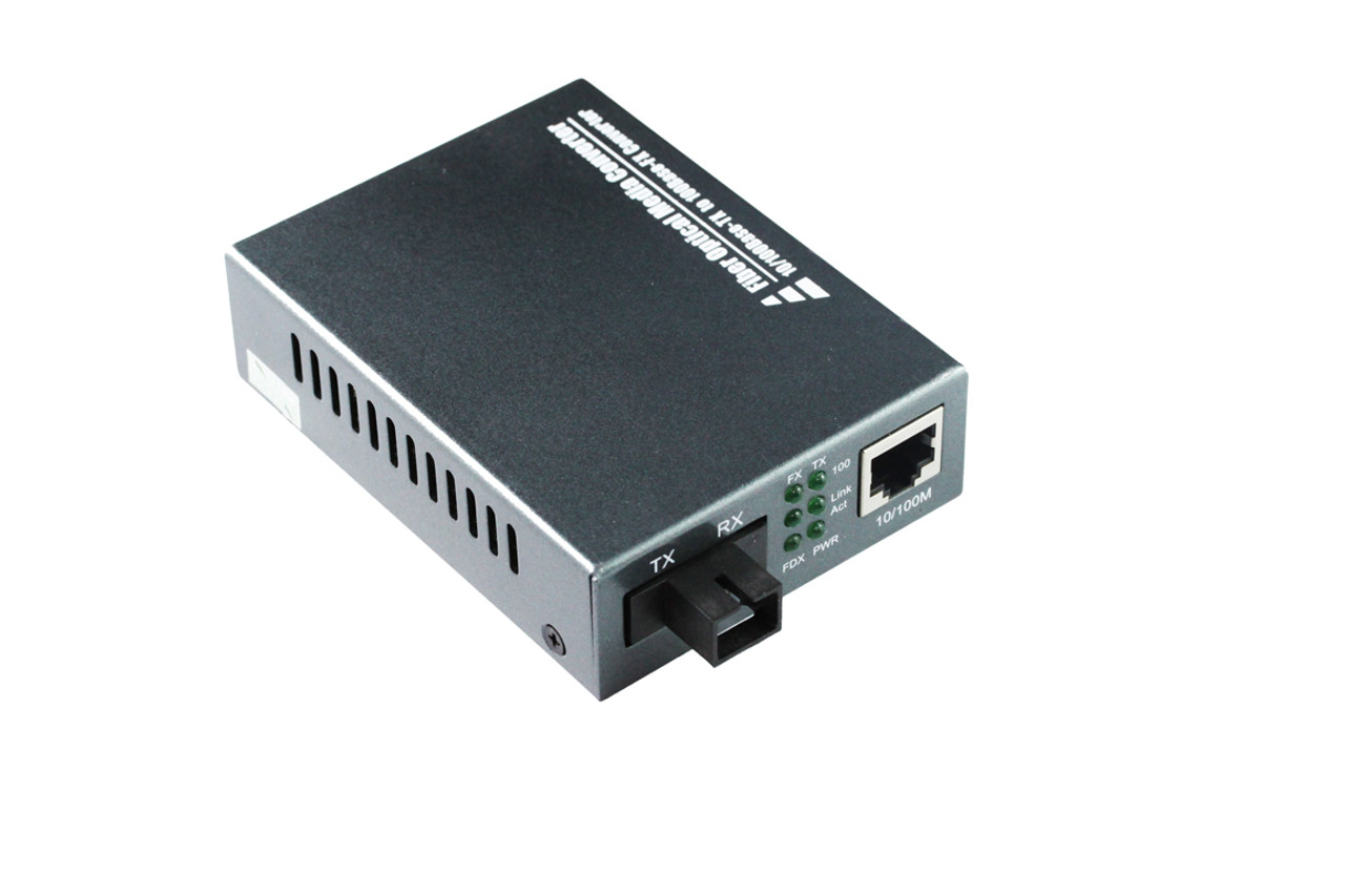 Product image for 10/100M SC Single Fibre Bi-Di WDM 25KM Midia Converter | CX Computer Superstore
