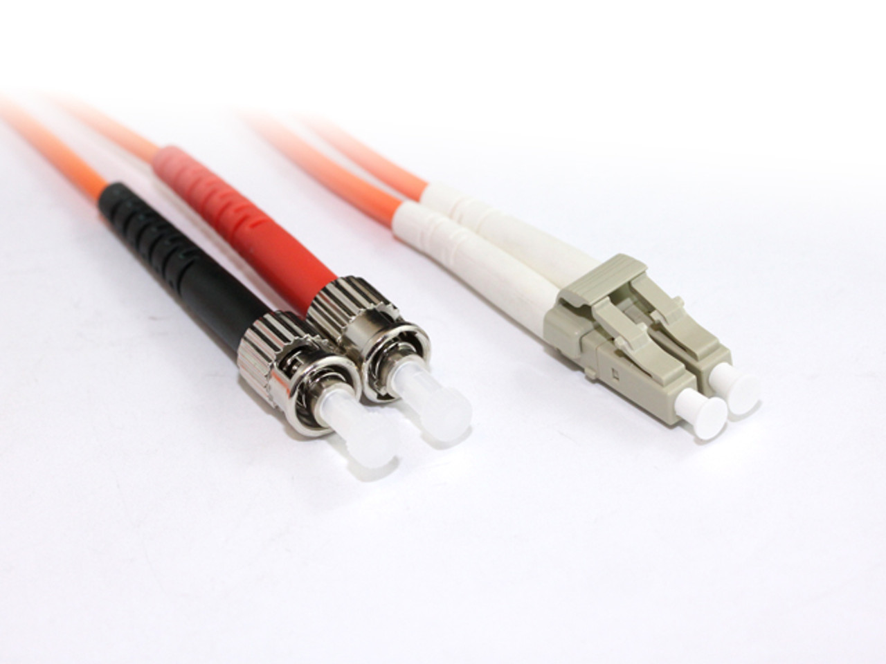Product image for 1M LC-ST OM1 Multimode Duplex Fibre Optic Cable | CX Computer Superstore