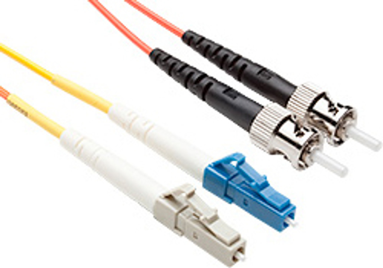 Product image for Comsol 1m Mode Conditioning Patch Cable LC Equipment (Single-Mode) to ST Cable Plant (Multi-Mode) LSZH 62.5/125 OM1 | CX Computer Superstore