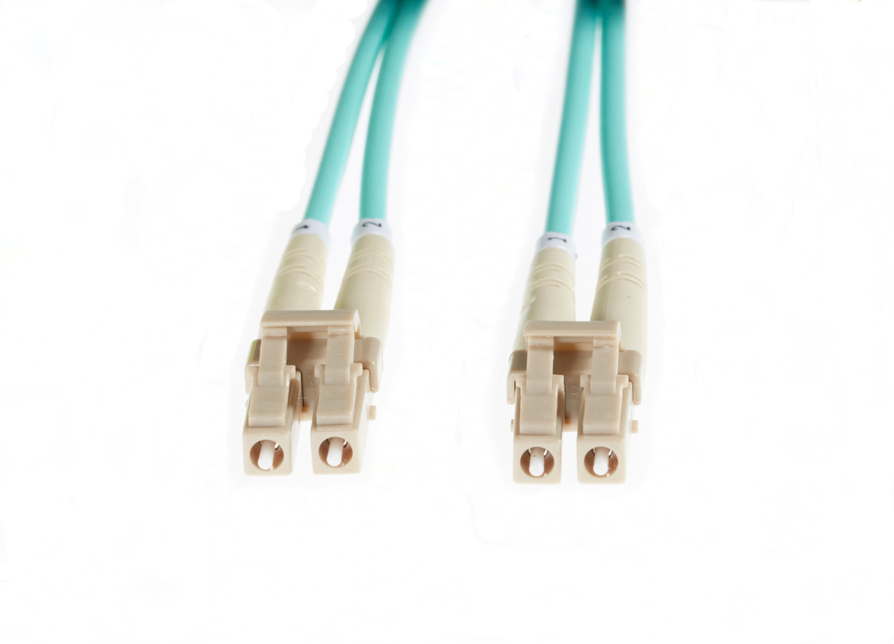 Image for 0.5m LC-LC OM4 Multimode Fibre Optic Patch Cable: Aqua CX Computer Superstore