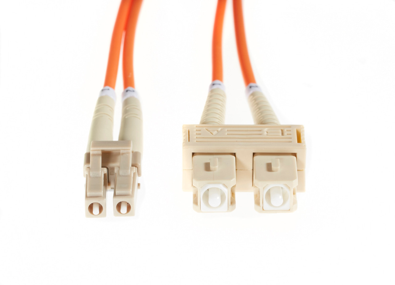 Image for 0.5m LC-SC OM1 Multimode Fibre Optic Cable: Orange CX Computer Superstore