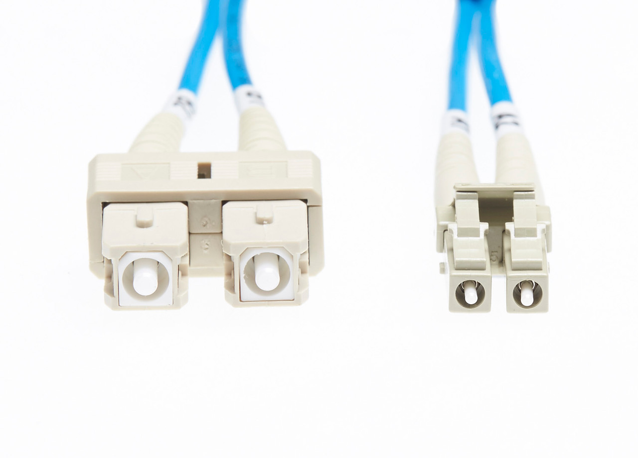 Image for 1m LC-SC OM4 Multimode Fibre Optic Cable: Blue CX Computer Superstore