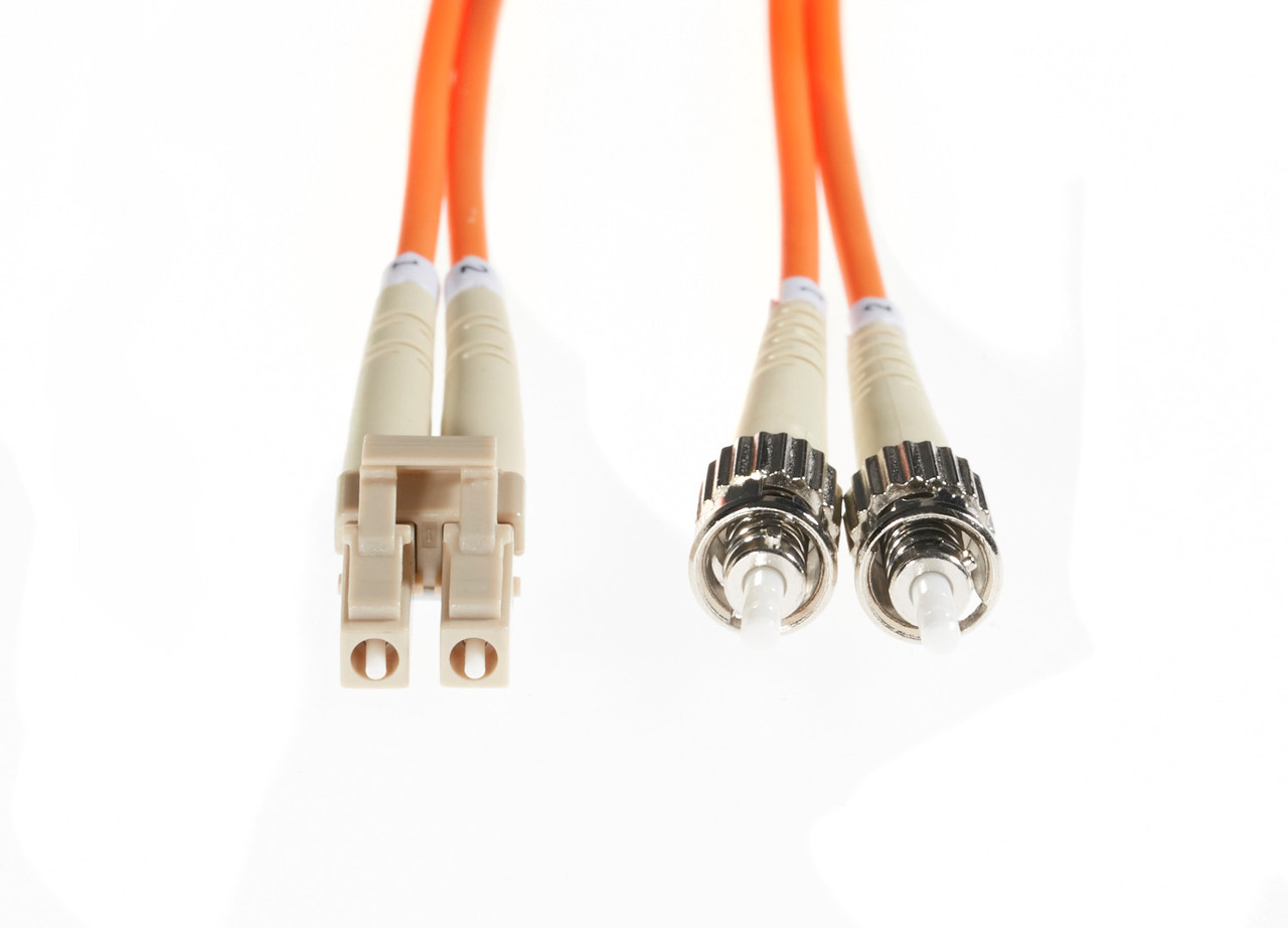 Image for 2m LC-ST OM1 Multimode Fibre Optic Cable: Orange CX Computer Superstore