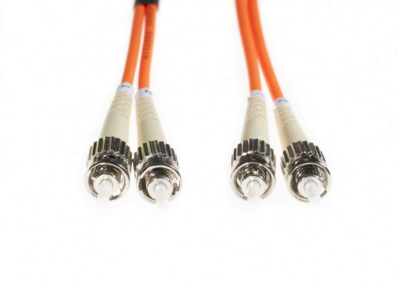 Image for 5m ST-ST OM1 Multimode Fibre Optic Cable: Orange CX Computer Superstore