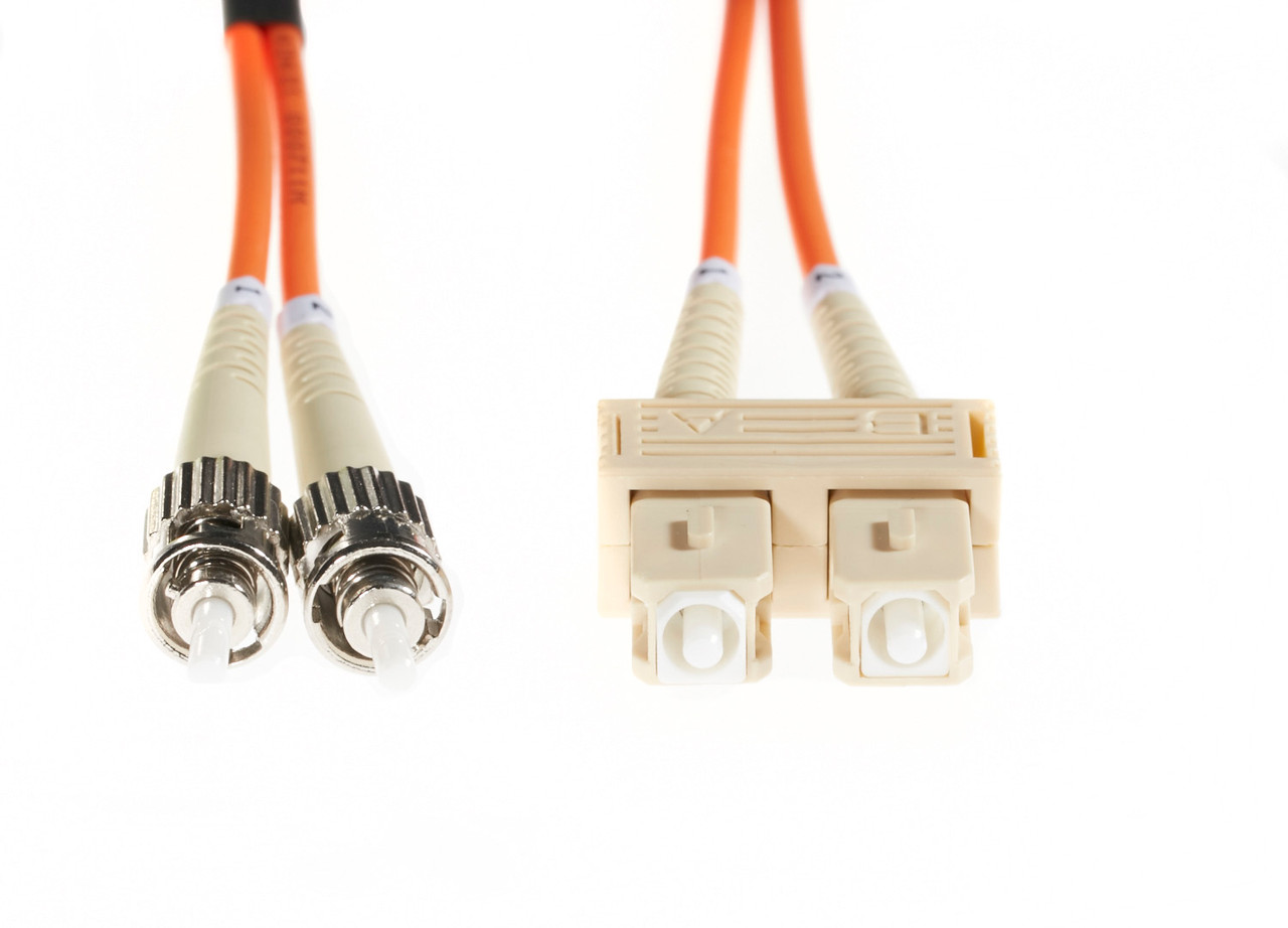 Image for 10m SC-ST OM1 Multimode Fibre Optic Cable: Orange CX Computer Superstore
