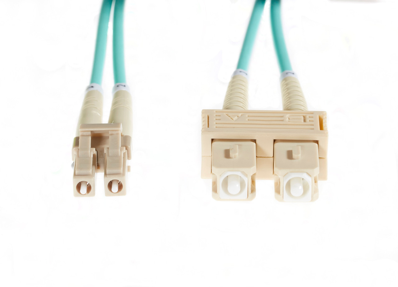 Image for 20m LC-SC OM3 Multimode Fibre Optic Cable: Aqua CX Computer Superstore