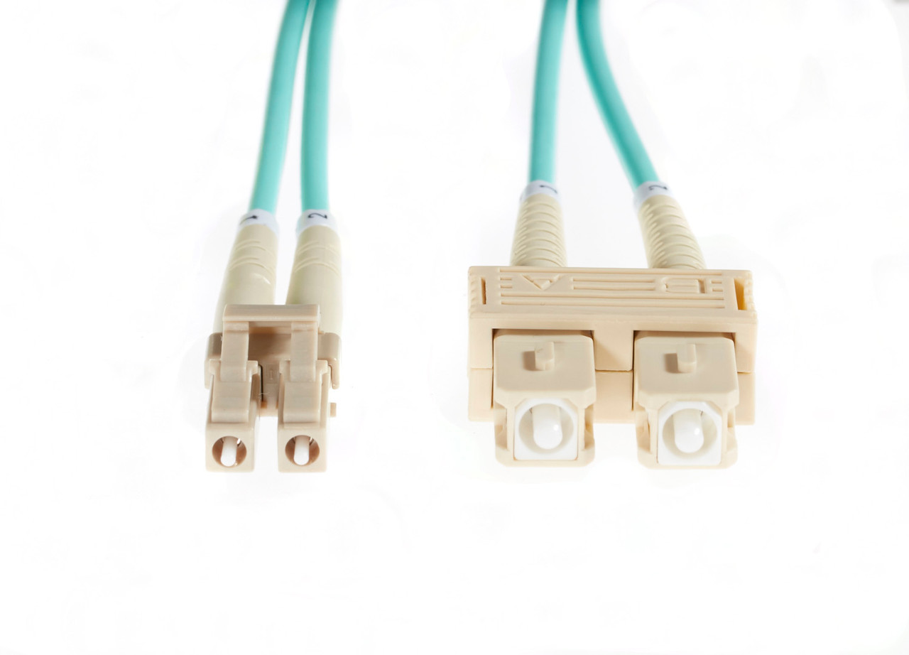 Image for 25m LC-SC OM4 Multimode Fibre Optic Cable: Aqua CX Computer Superstore