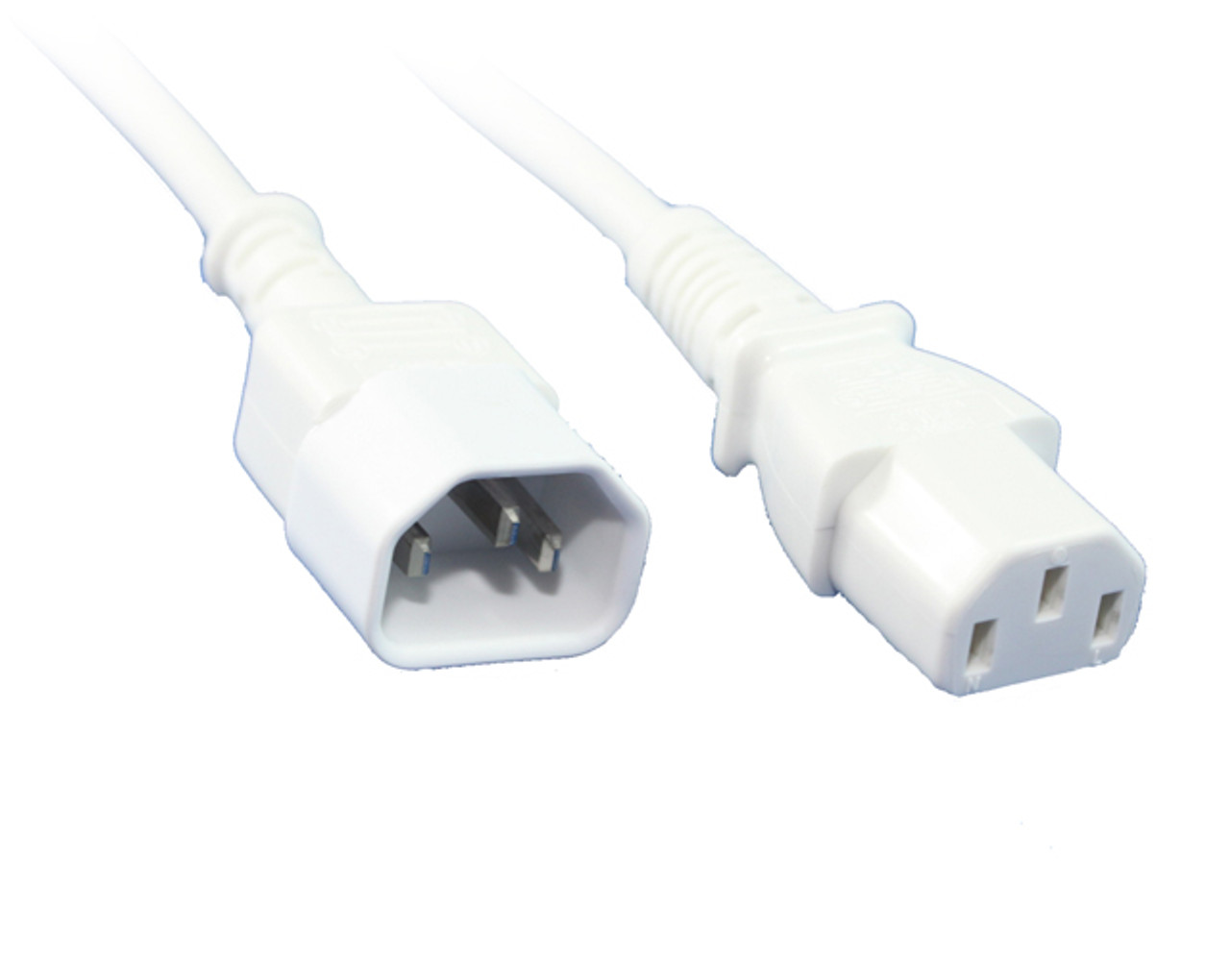 Product image for 0.5M IEC C13 To C14 Power Cable White | CX Computer Superstore