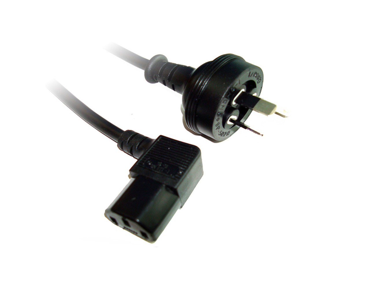 Product image for 2M Wall To Left Angle IEC C13 Power Cable | CX Computer Superstore
