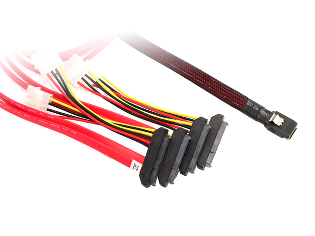 Product image for 50CM M-SAS To 4XSAS29/Molex Cable | CX Computer Superstore