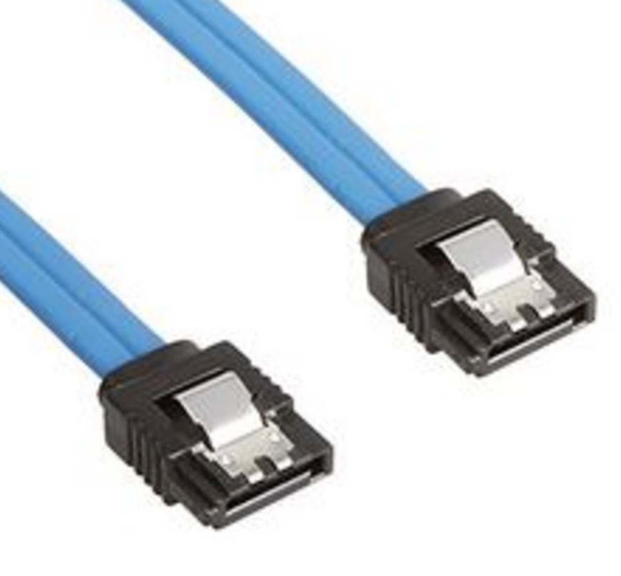 Product image for 50cm SATA 3.0 Data Cable 50cm M/M 180 to 180 Degree with Metal Blu | CX Computer Superstore