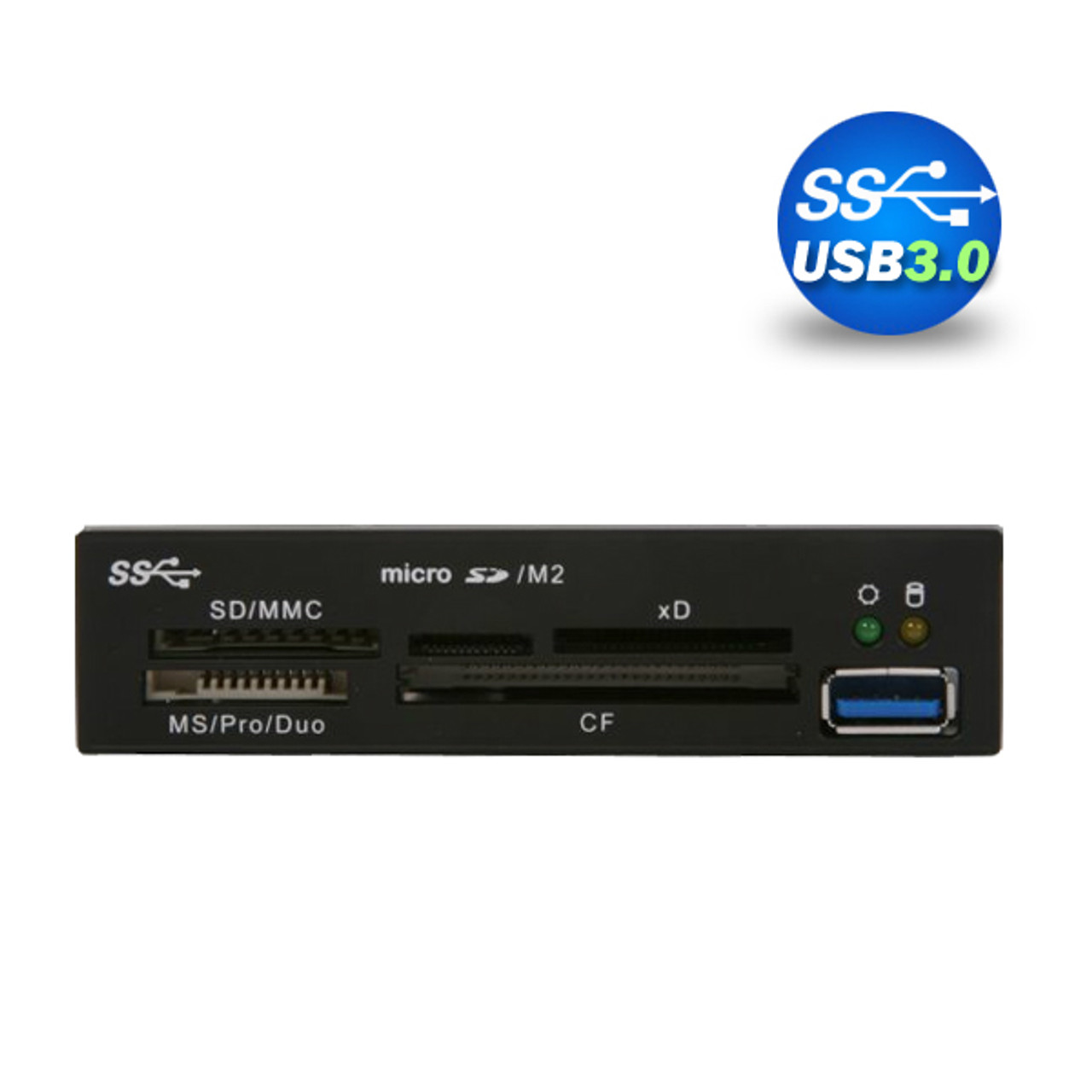 Product image for 3.5in USB 3.0 All in One Internal Card Reader Metal w Front USB | CX Computer Superstore