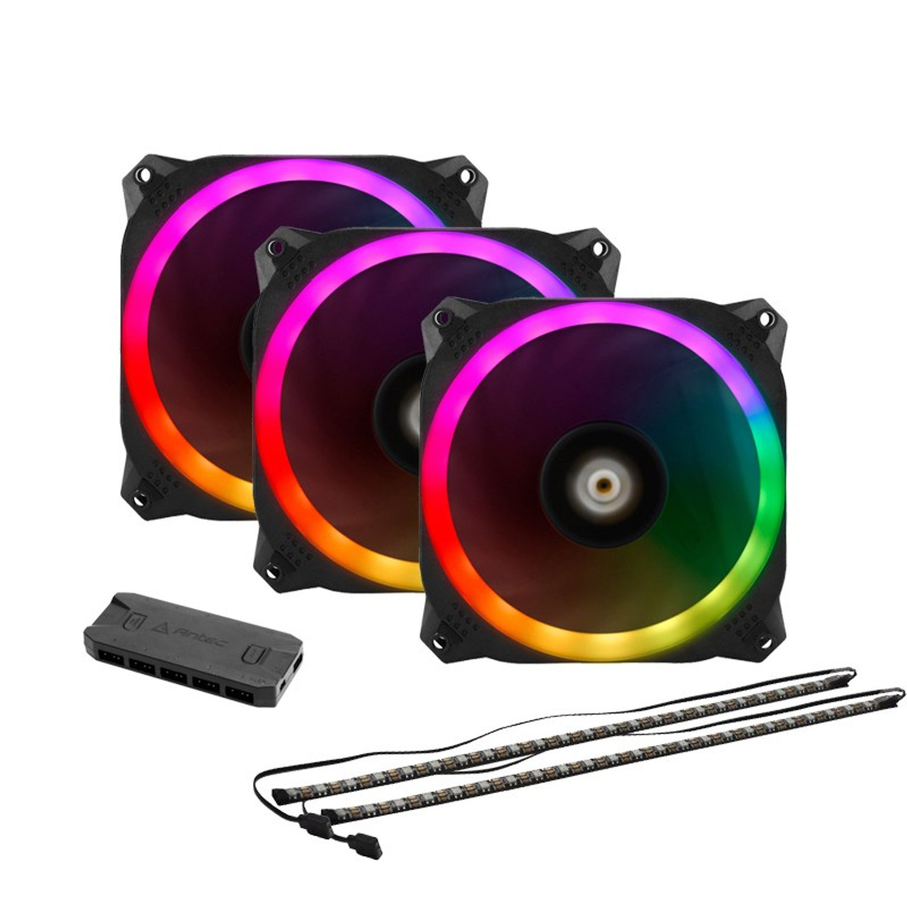 Image for Antec Prizm 120 ARGB 3+2+C 120mm PWM Fan Pack CX Computer Superstore