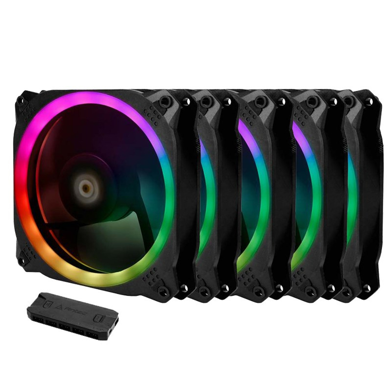 Image for Antec Prizm 120 ARGB 5+C PWM Case Fan - 5 Pack with Controller CX Computer Superstore