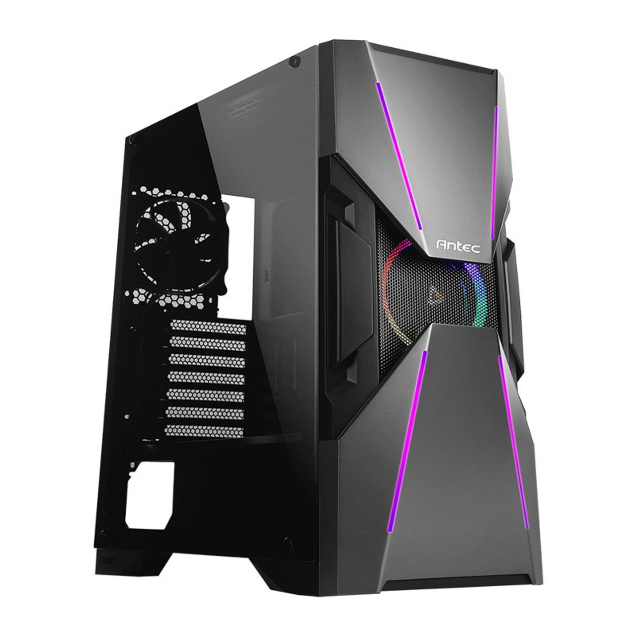 Product image for Antec DA601 Tempered Glass ARGB Mid-Tower E-ATX Case | CX Computer Superstore