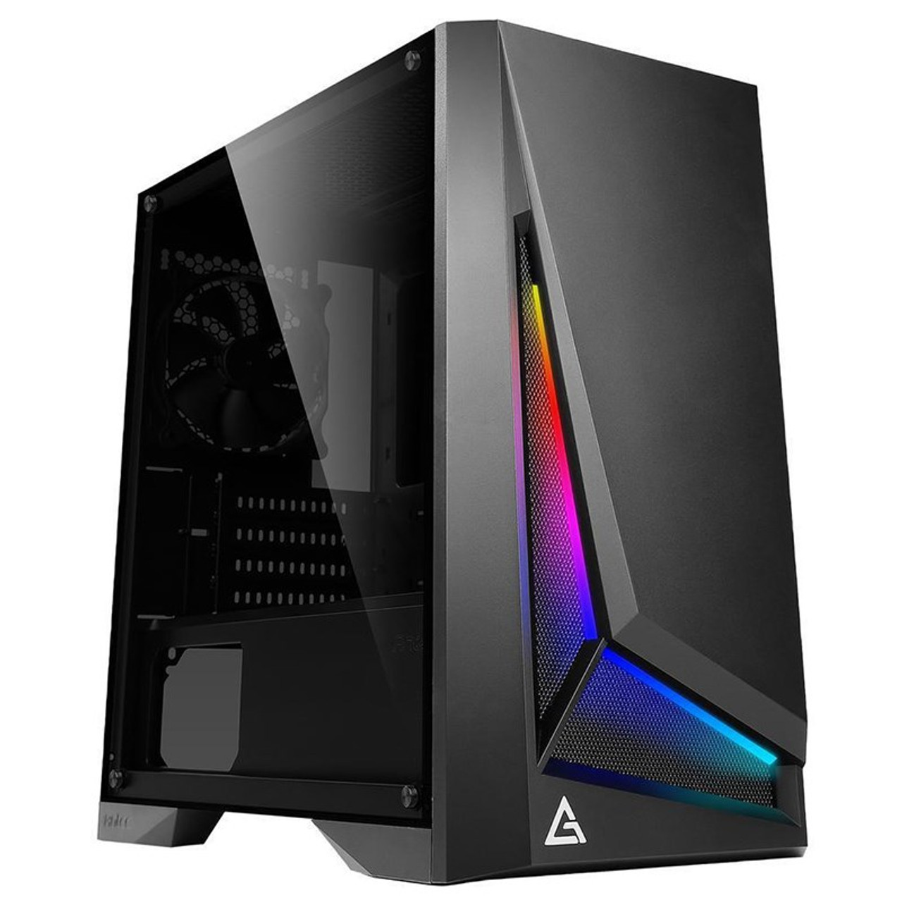 Product image for Antec DP301M ARGB Tempered Glass Compact Micro-ATX Case | CX Computer Superstore