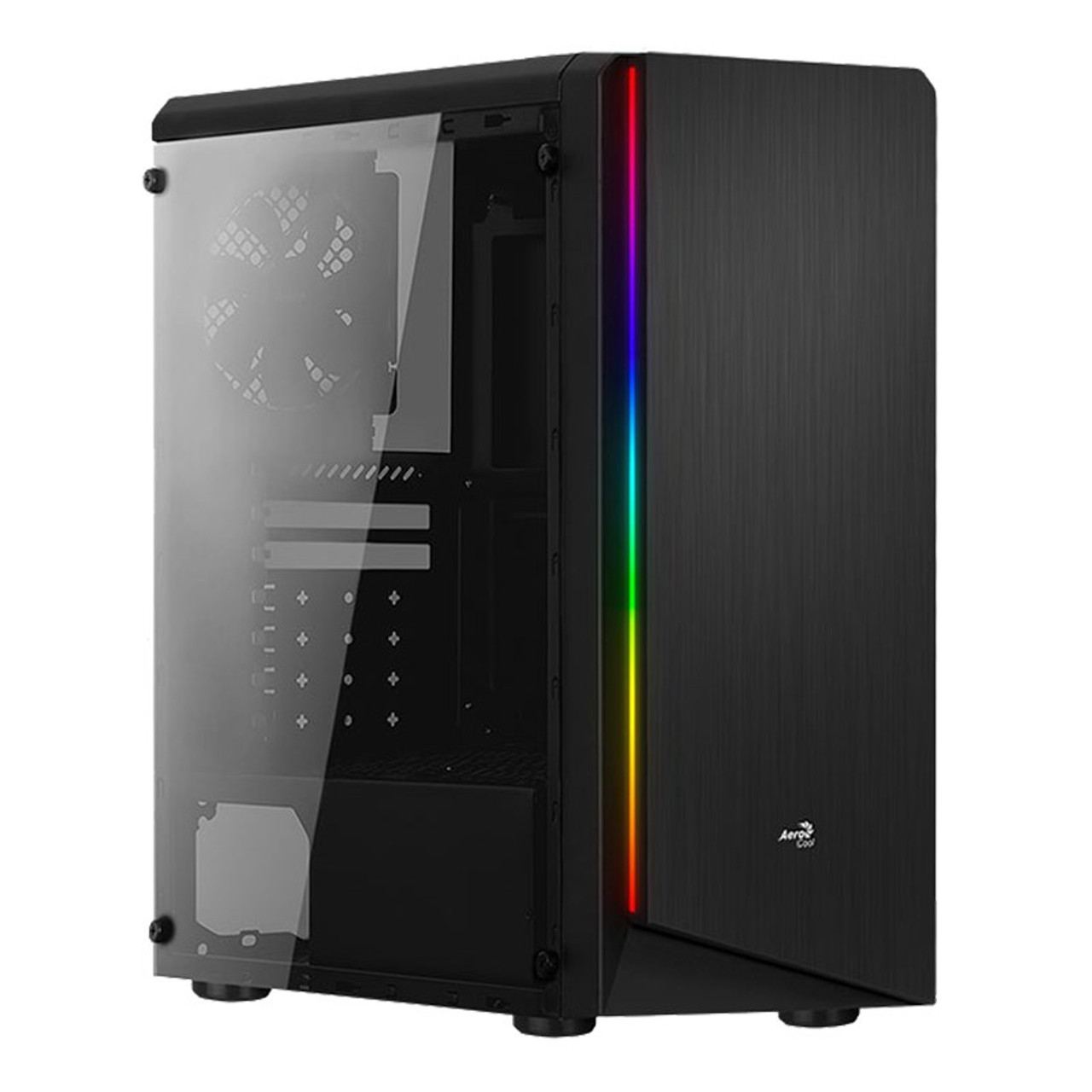 Image for Aerocool Rift BG RGB Tempered Glass Mid-Tower ATX Case - Black CX Computer Superstore