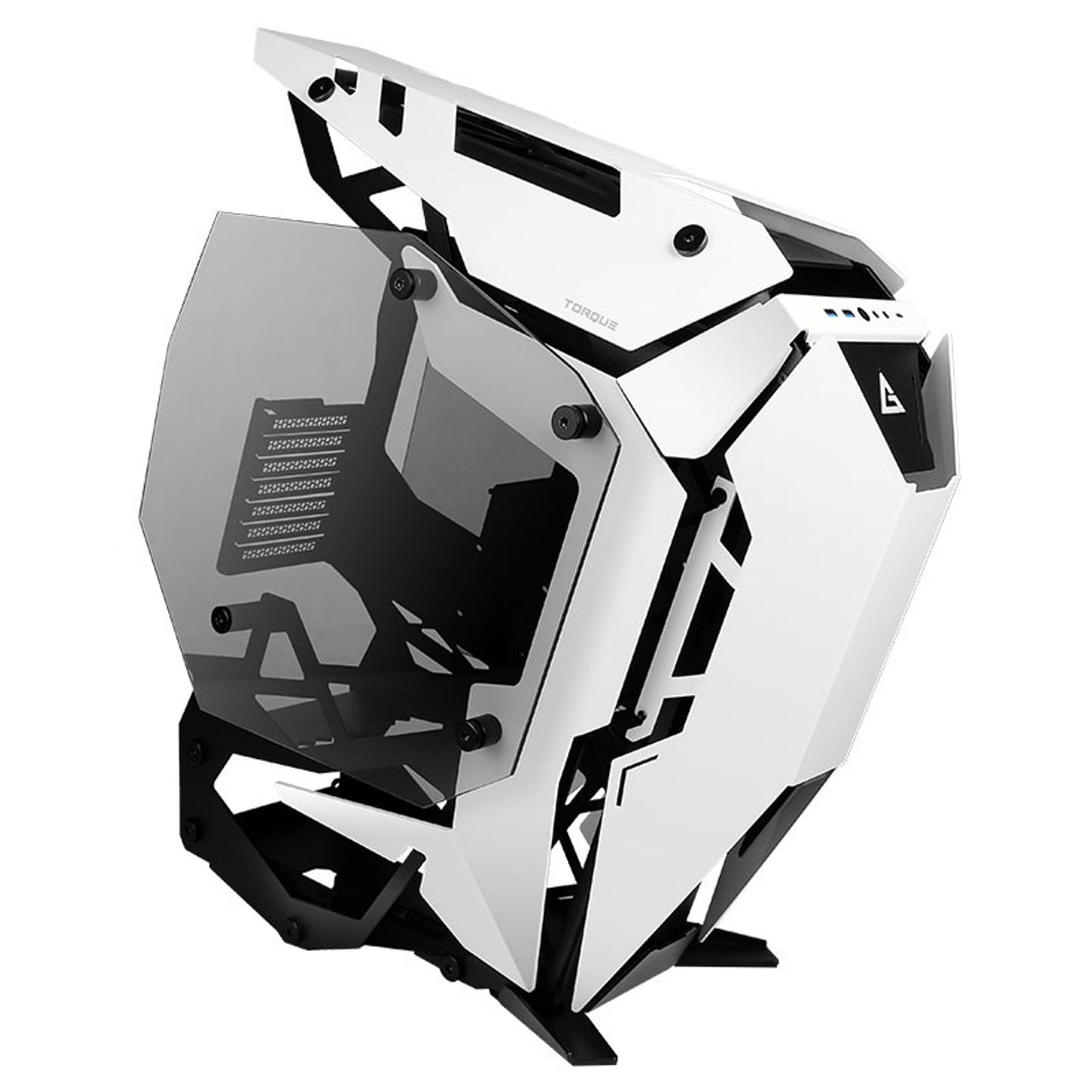Image for Antec Torque Tempered Glass Open-Air Mid-Tower ATX Case - White CX Computer Superstore