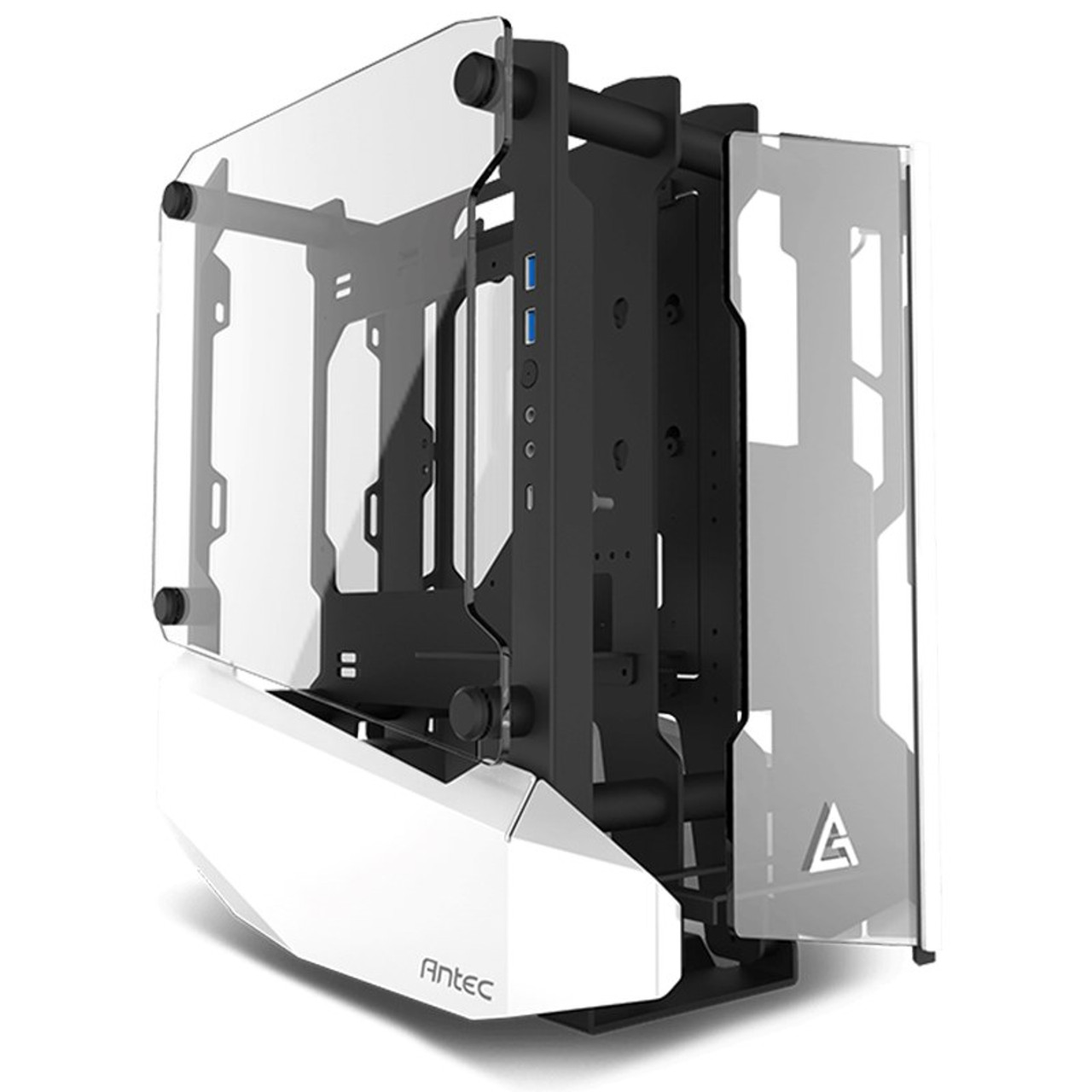 Image for Antec Striker Tempered Glass Open Frame Mini-ITX Case - White CX Computer Superstore