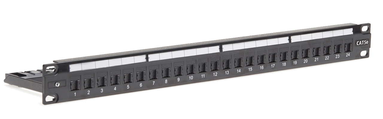 Image for 4Cabling 1RU 24 Port Cat 5E Universal Termination Patch Panel CX Computer Superstore