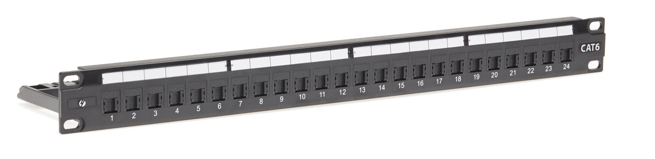 Image for 4Cabling 1RU 24 Port Cat 6 Universal Termination Patch Panel CX Computer Superstore