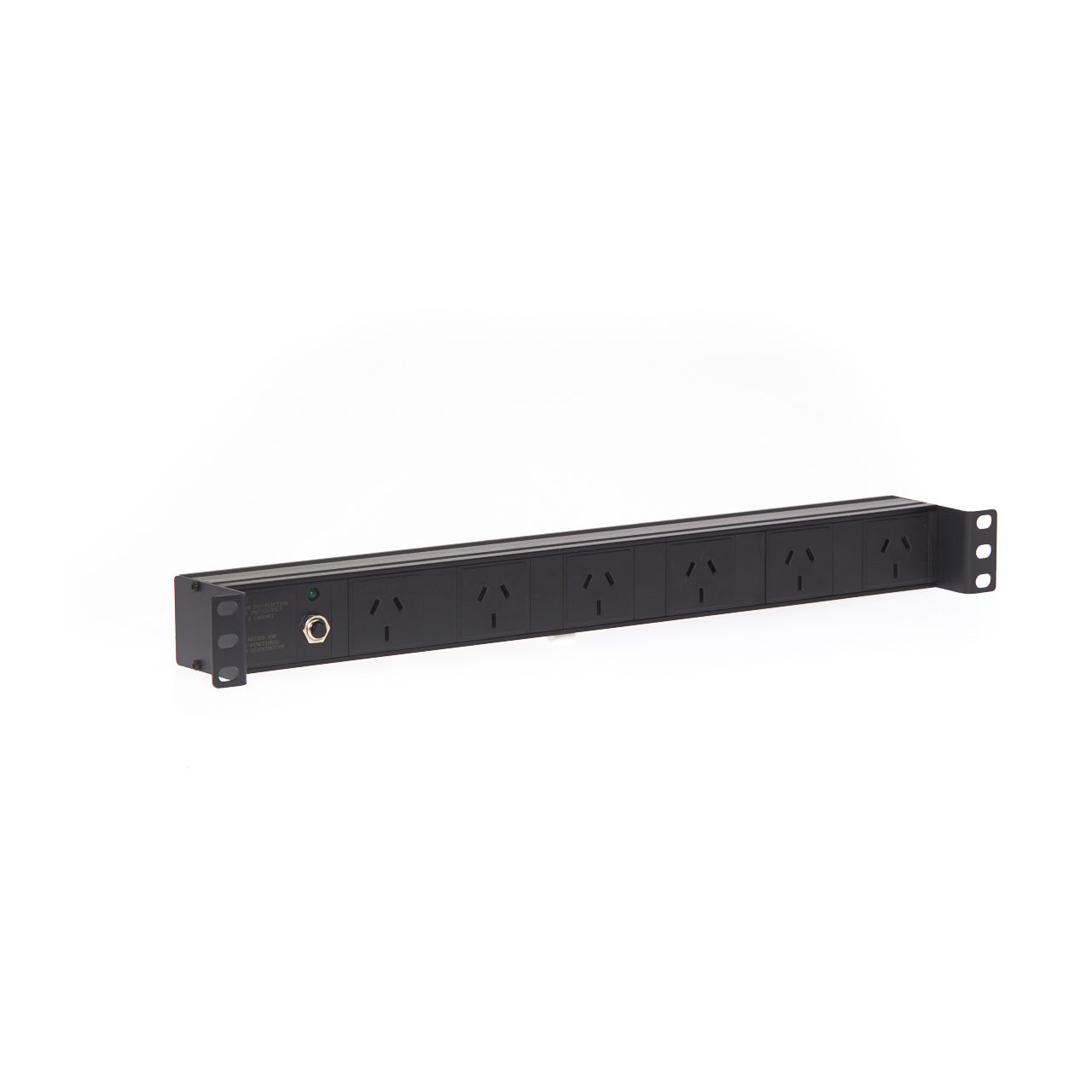 Image for 1RU 6 Way GPO Recessed Rack Mount PDU Power Rail CX Computer Superstore
