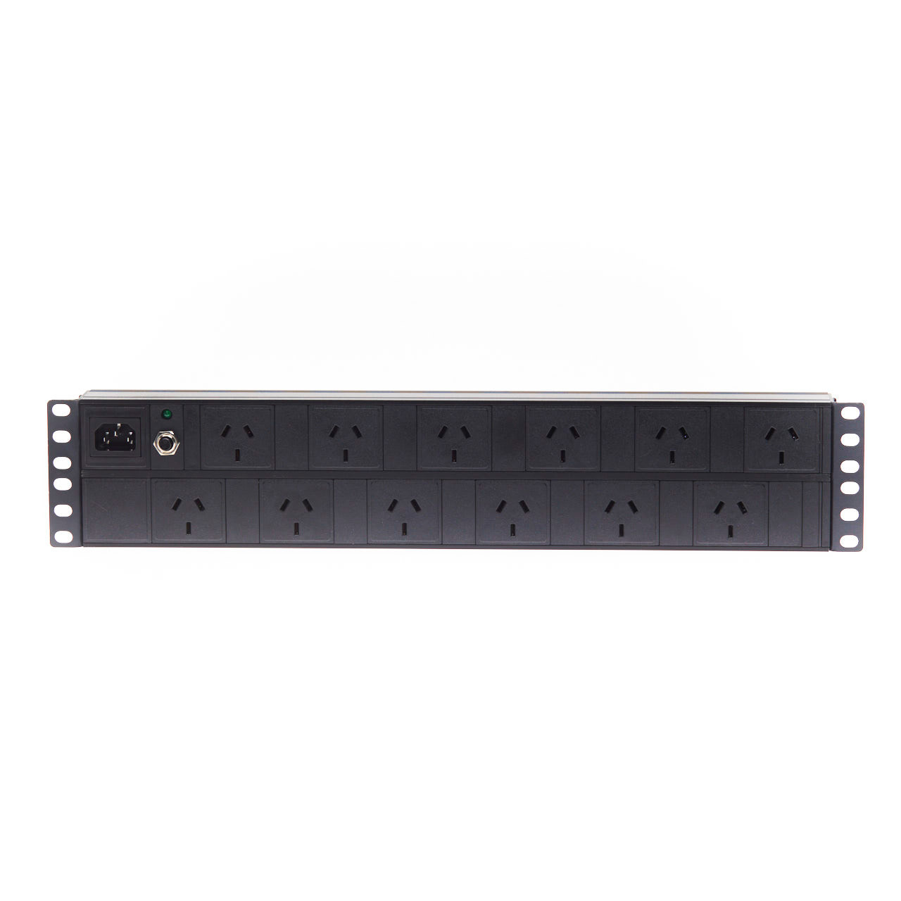 Image for 2RU 12 Way GPO Horizontal Rack Mount PDU Power Rail CX Computer Superstore