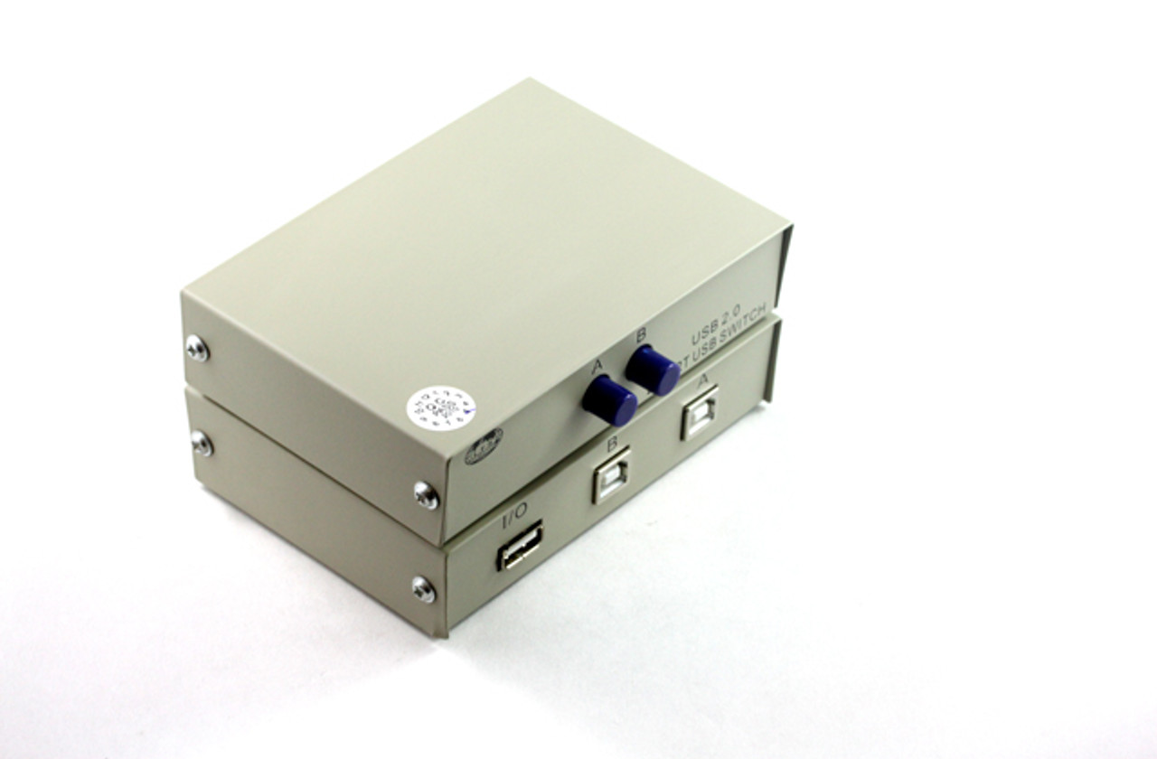 Product image for 2 Way USB 2.0 Push-Button Data Switch   CX Computer Superstore