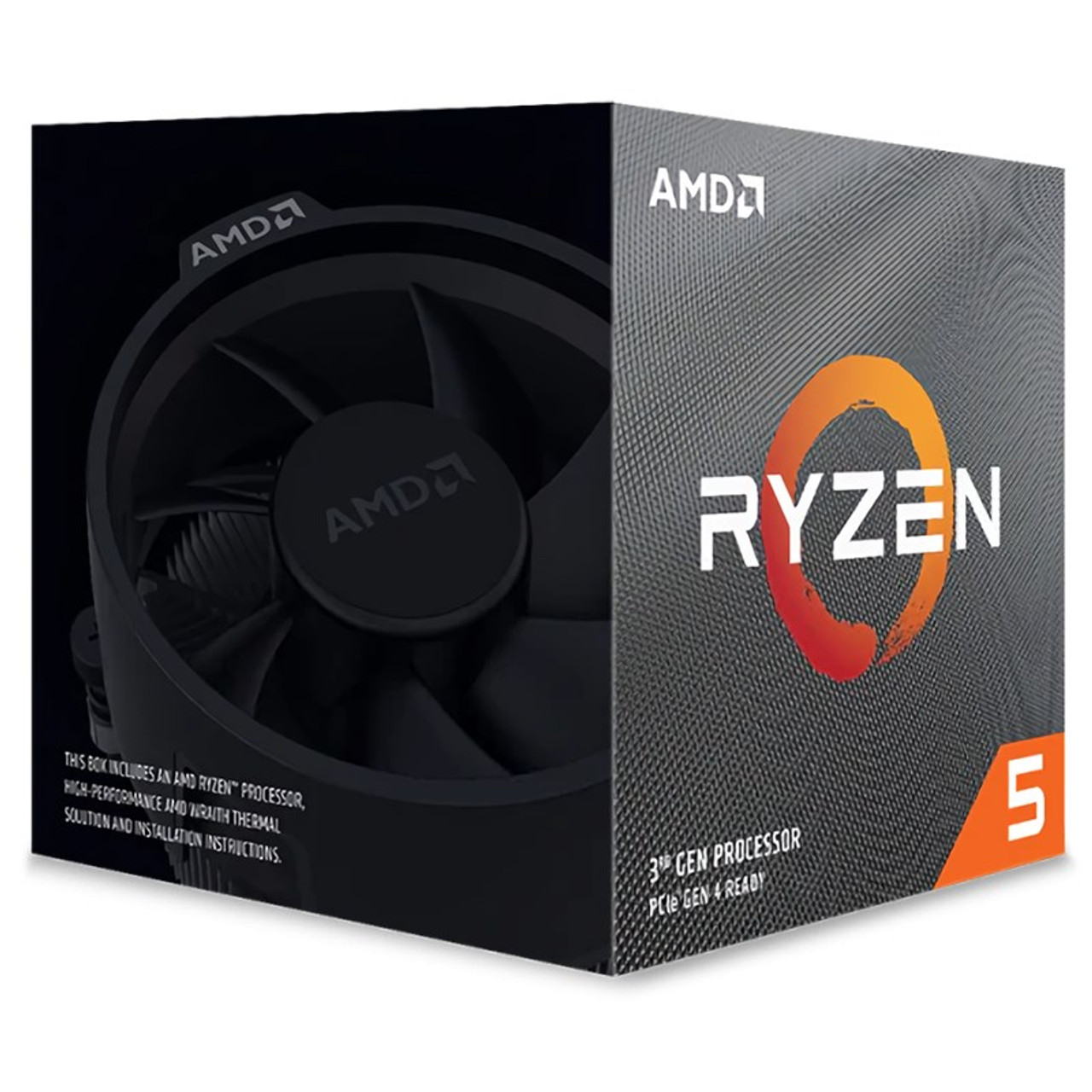 Image for AMD Ryzen 5 3600XT 6 Core Socket AM4 3.80GHz CPU Processor + Wraith Spire Cooler CX Computer Superstore