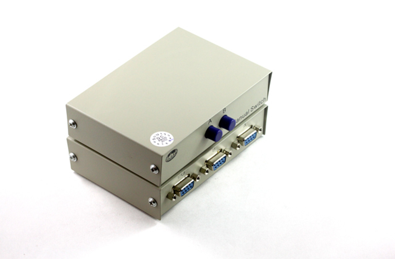 Product image for 2 Way DB9 RS232 Push-Button Data Switch   CX Computer Superstore