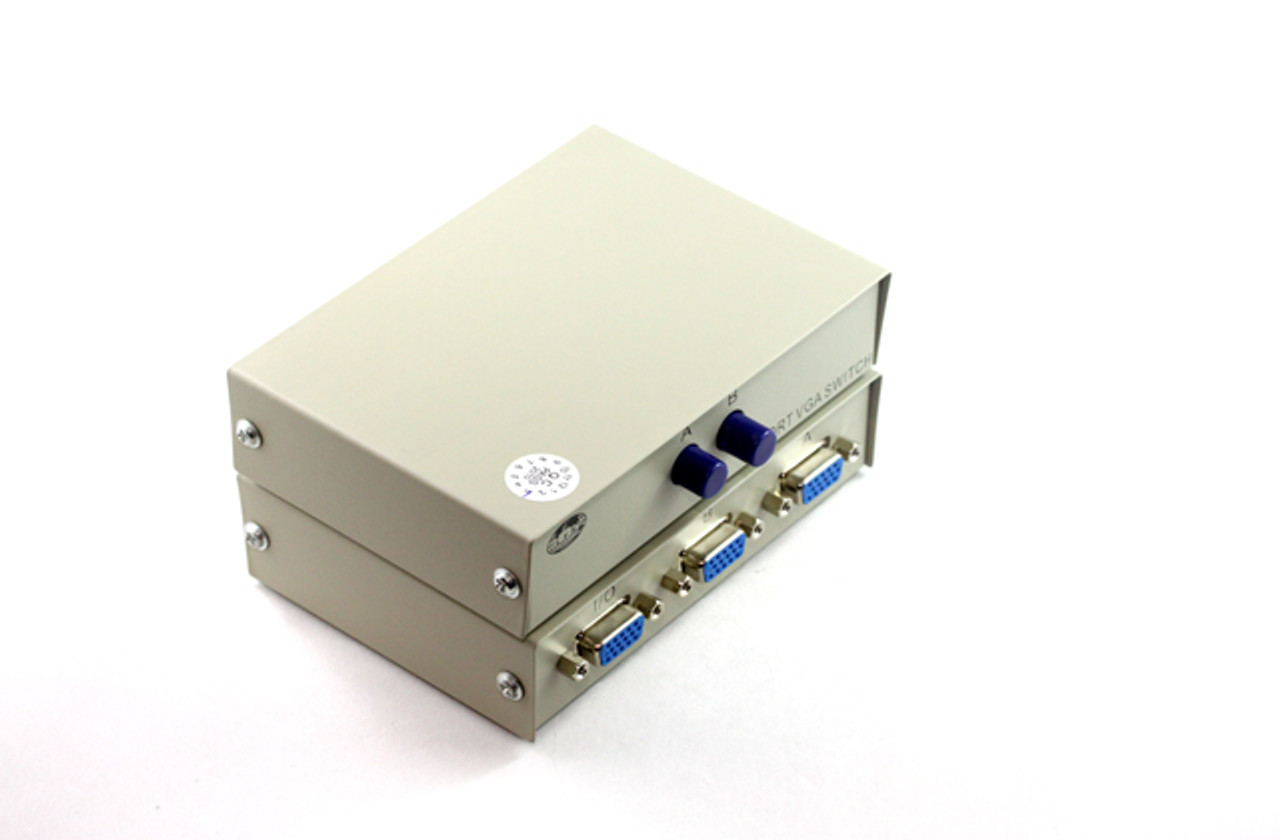 Product image for 2 Way SVGA Push-Button Data Switch | CX Computer Superstore