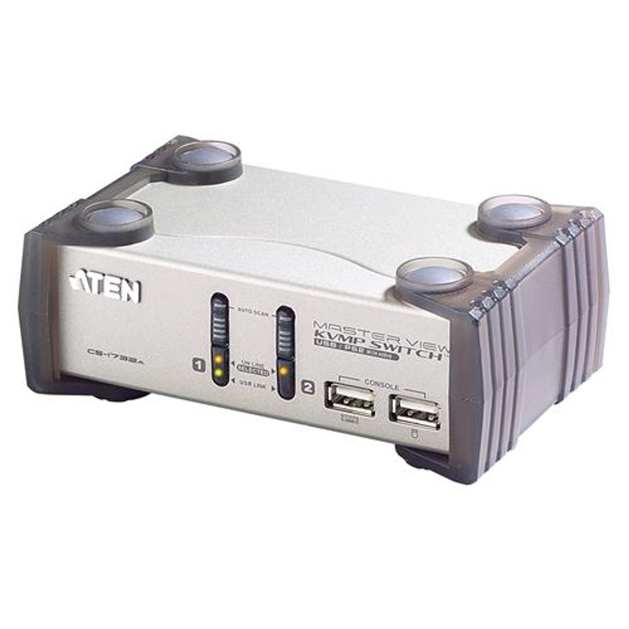 Product image for Aten 2 Port USB KVMP Switch with audio and USB 1.1 Hub - Cables Includ | CX Computer Superstore