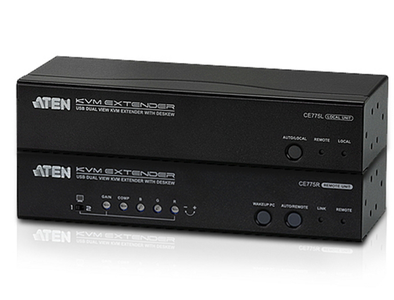 Image for ATEN CE775 USB VGA Dual View Cat5 KVM Extender with Deskew - 1280x1024 at 300m CX Computer Superstore