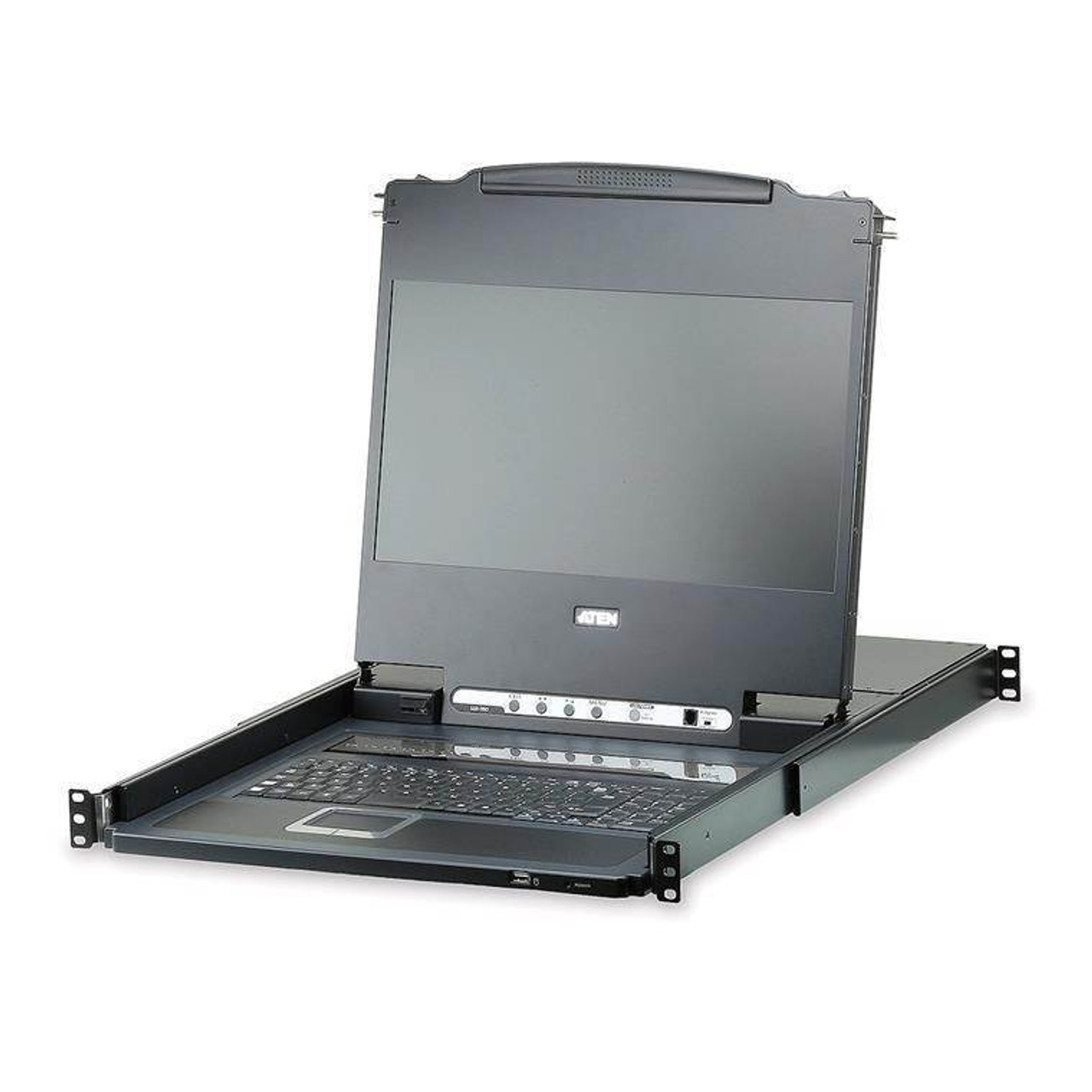 Image for ATEN CL6708MW Single Rail 8 Port DVI FHD 17.3in LCD KVM Switch CX Computer Superstore