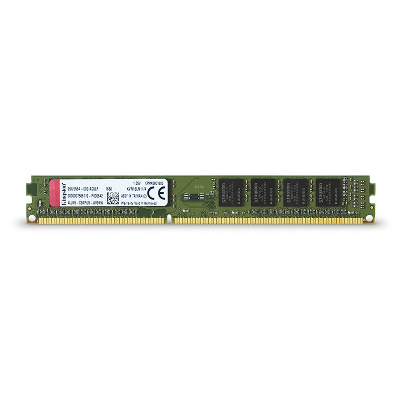 Product image for Kingston 4GB (1x 4GB) DDR3L 1600MHz Memory | CX Computer Superstore