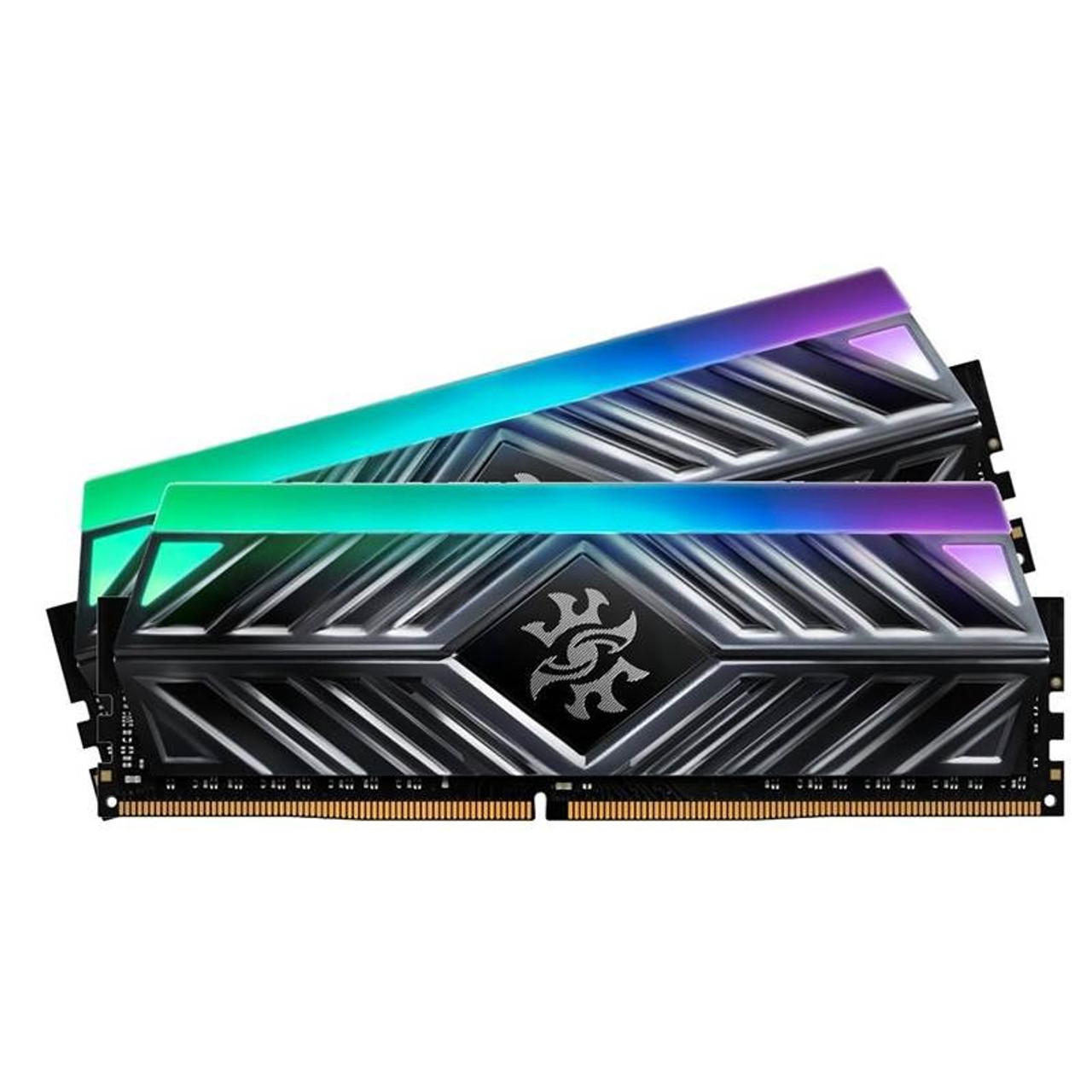 Image for Adata XPG Spectrix D41 16GB (2x 8GB) DDR4 3600MHz RGB Memory - Titanium Gray CX Computer Superstore