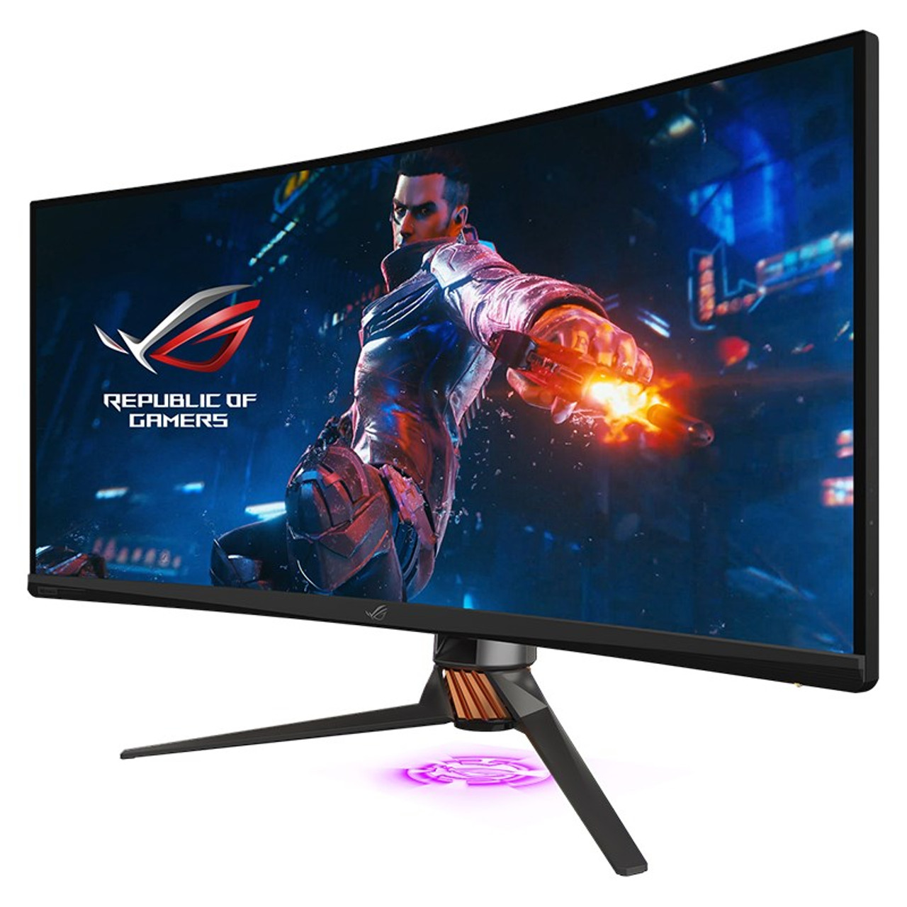 Product image for Asus ROG PG35VQ UWQHD 200hz G-Sync QLED HDR FALD 35in Monitor | CX Computer Superstore