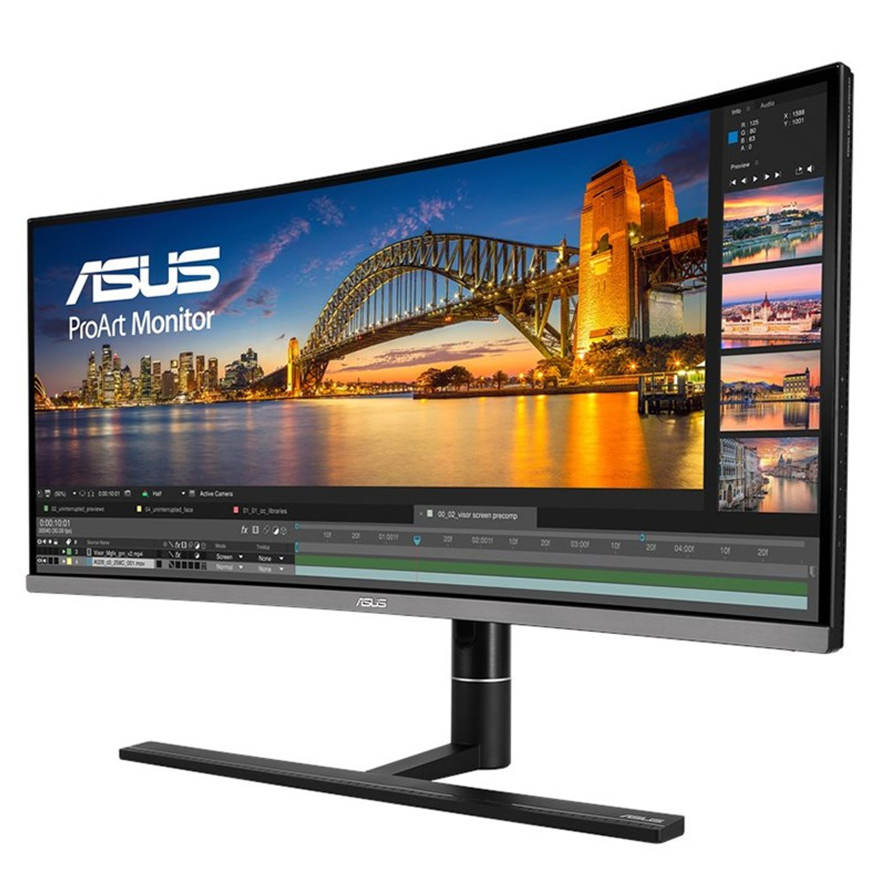 Image for Asus ProArt PA34VC 34in 100Hz UWQHD 100% sRGB Curved IPS Monitor w/ Thunderbolt 3 CX Computer Superstore
