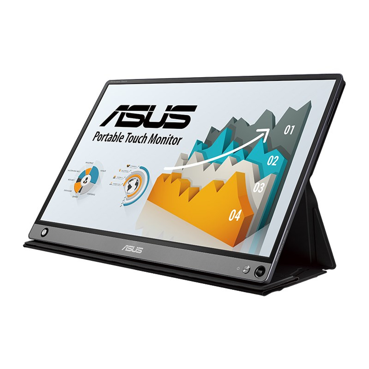 Image for Asus ZenScreen Touch MB16AMT 15.6in FHD IPS Portable USB Type-C Monitor CX Computer Superstore
