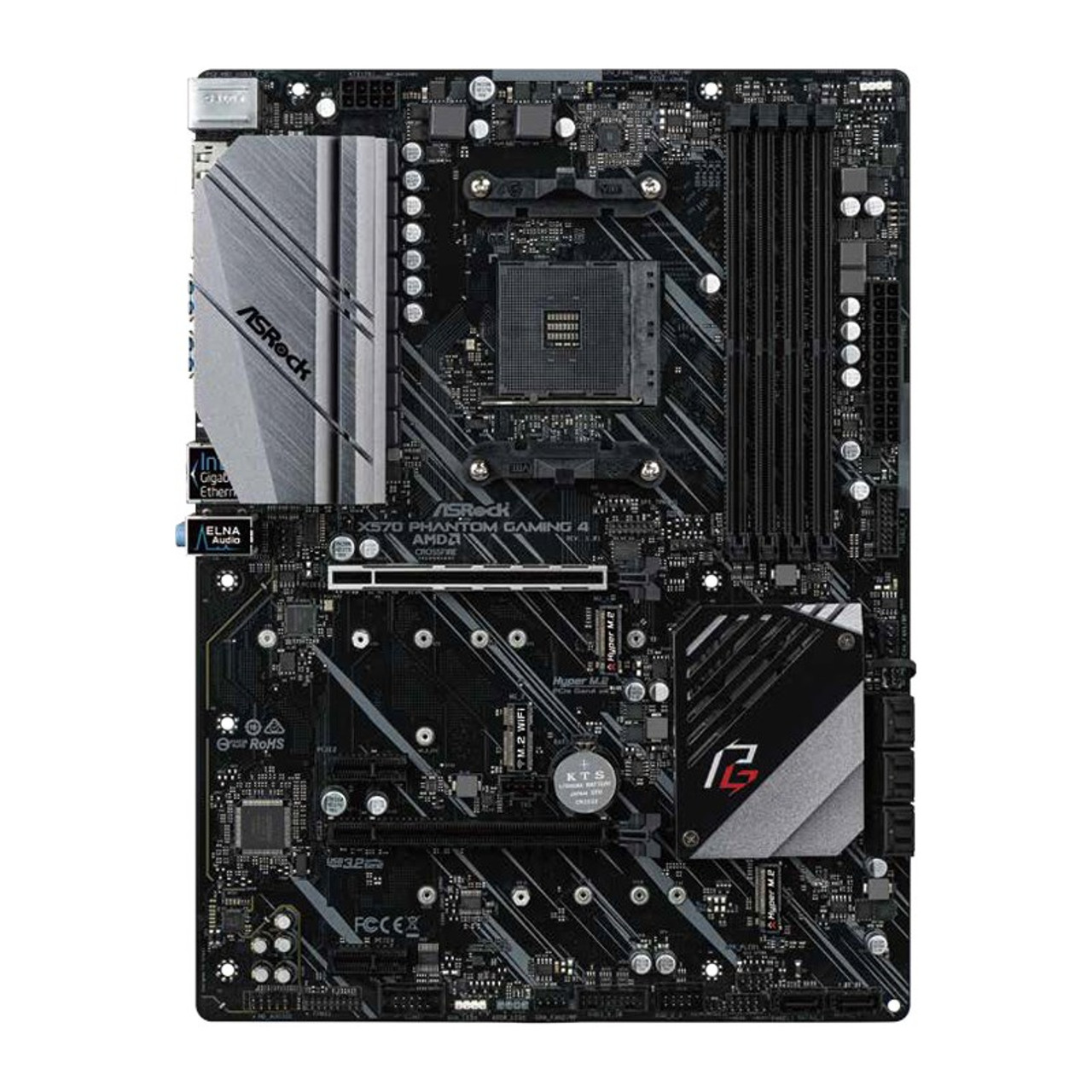Product image for ASRock X570 Phantom Gaming 4 Motherboard | CX Computer Superstore