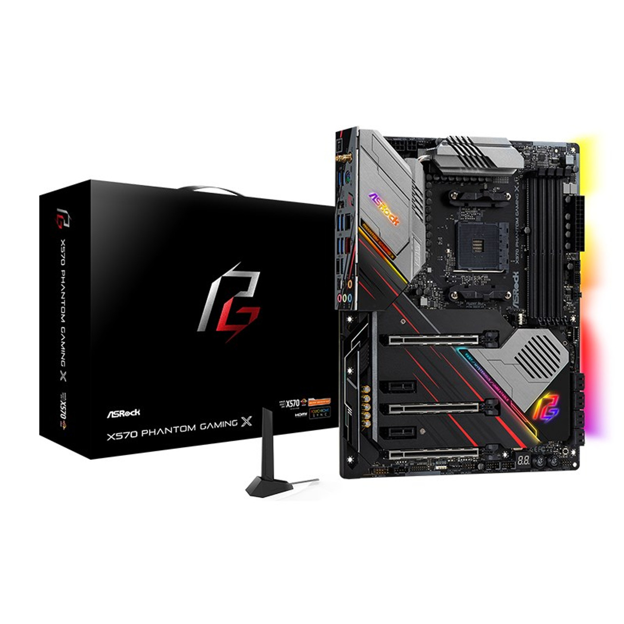 Product image for ASRock X570 Phantom Gaming X Motherboard | CX Computer Superstore