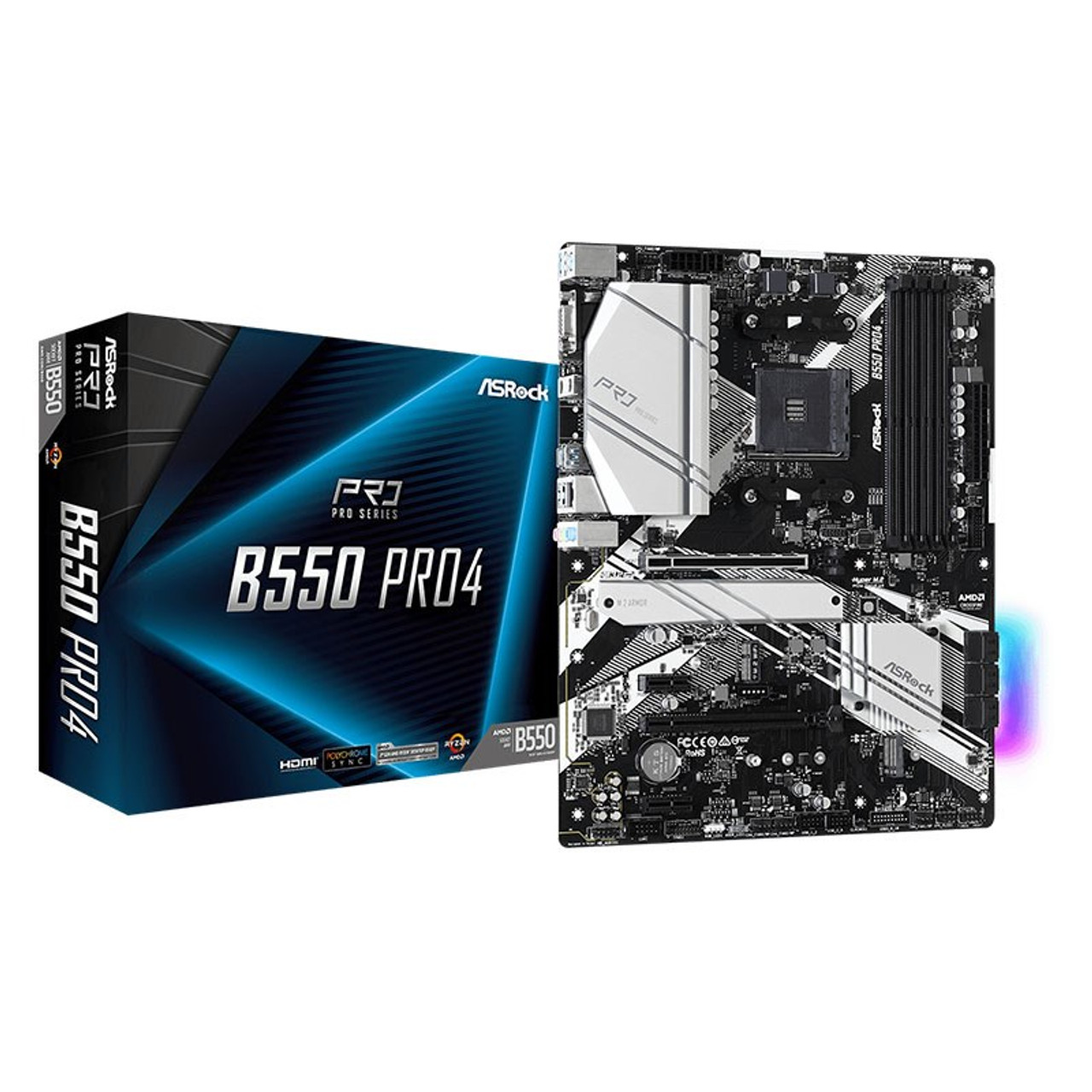 Image for ASRock B550 Pro4 AM4 ATX Motherboard CX Computer Superstore