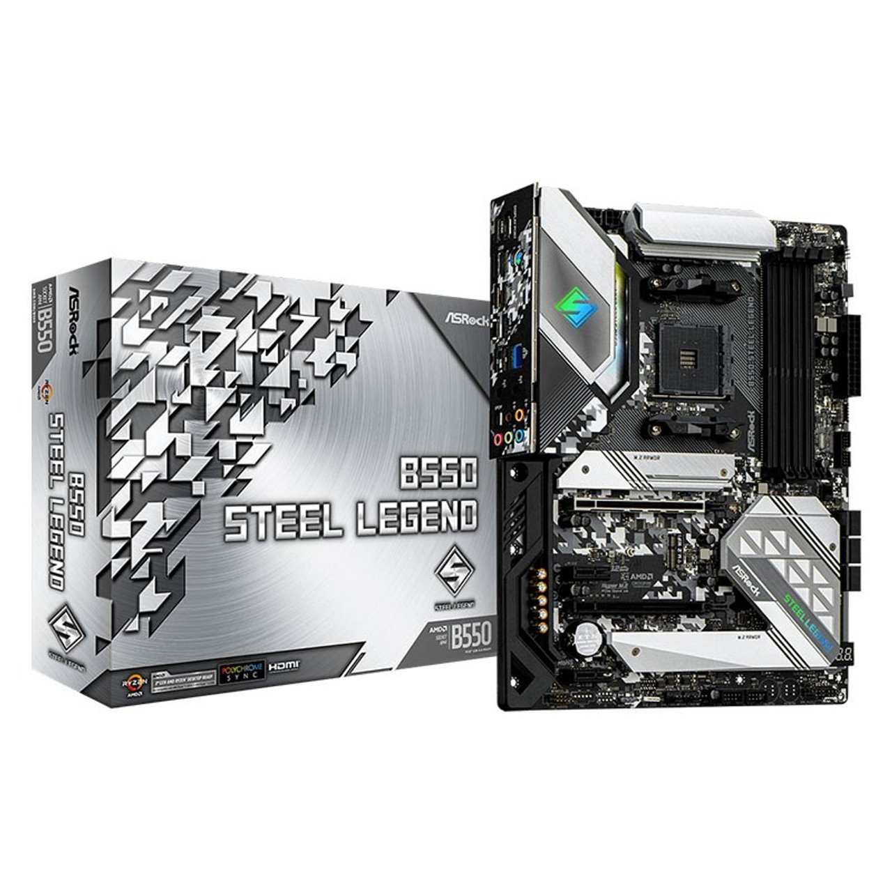 Image for ASRock B550 Steel Legend AM4 ATX Motherboard CX Computer Superstore