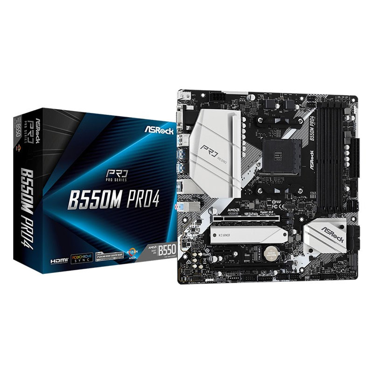 Image for ASRock B550M Pro4 AM4 Micro-ATX Motherboard CX Computer Superstore