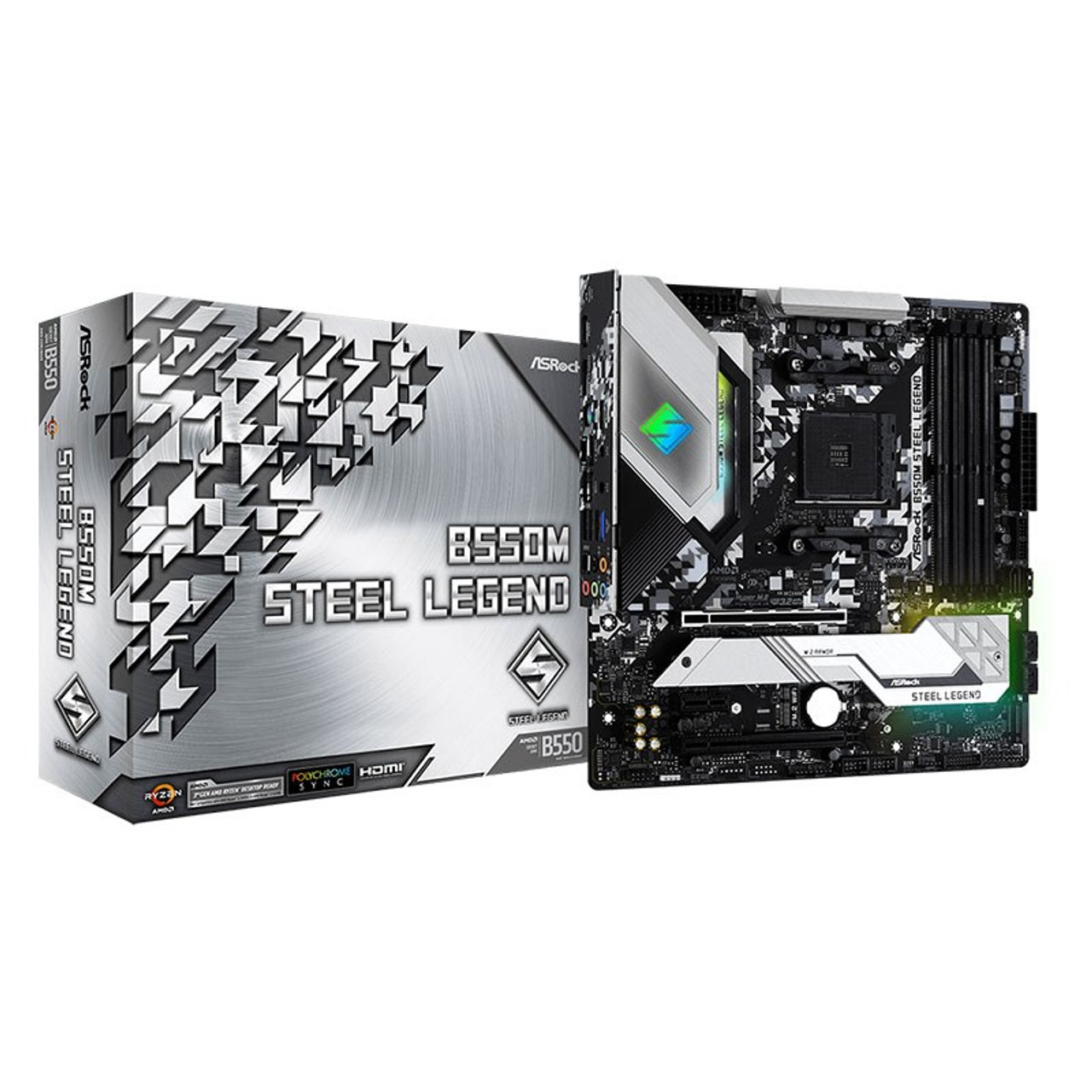 Image for ASRock B550M Steel Legend AM4 Micro-ATX Motherboard CX Computer Superstore