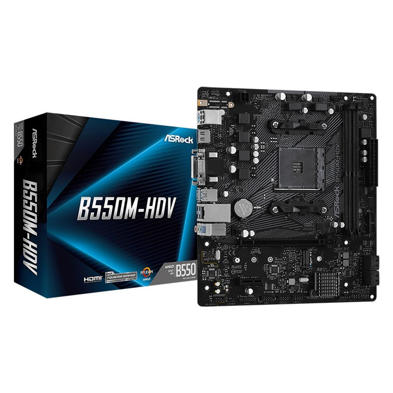 Image for ASRock B550M-HDV AM4 Micro-ATX Motherboard CX Computer Superstore